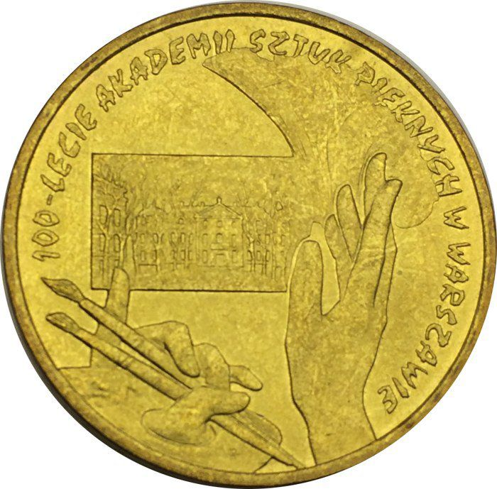 """Монета """"100 лет Академии изящных искусств Польши"""""""