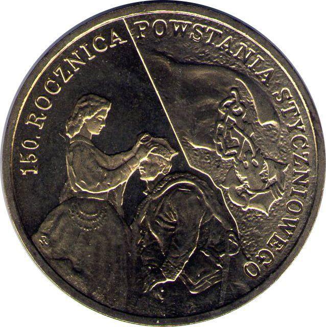 """Монета """"150 лет Польскому восстанию 1863 года"""""""