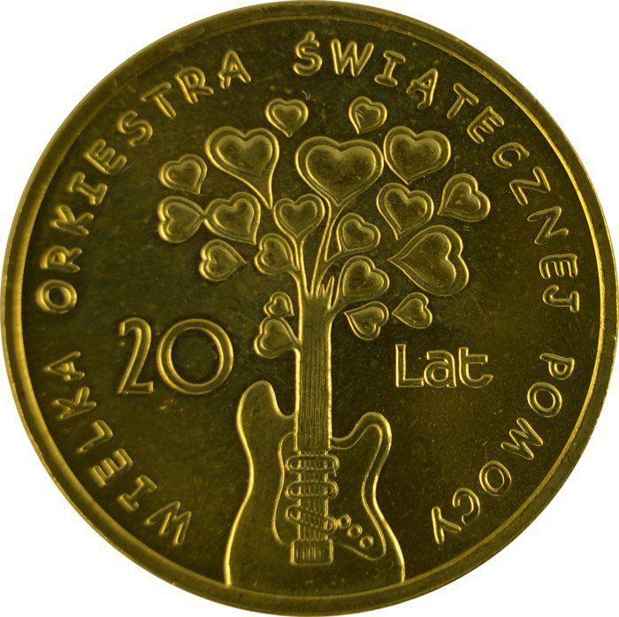 """Монета """"20 лет Большому Рождественскому оркестру"""""""