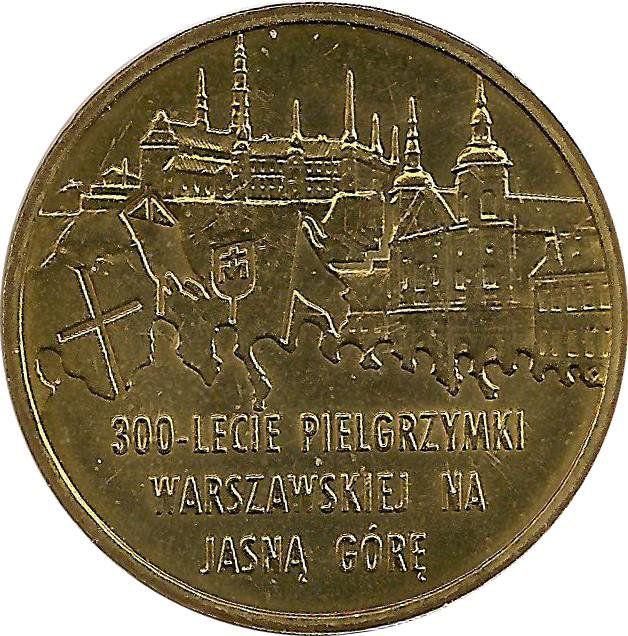 """Монета """"300 лет варшавскому паломничеству к Ясной Горе"""""""