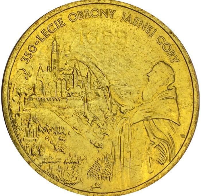 """Монета """"350 лет обороны Ясной горы"""""""