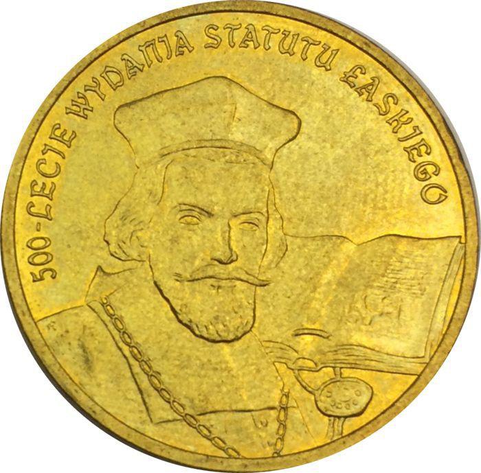 "Монета ""500 лет статута Яна Лаского"""