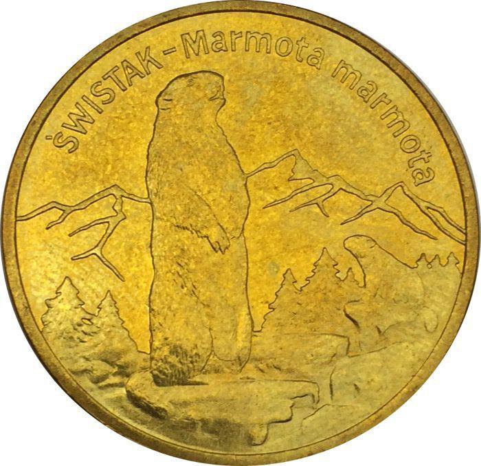 """Монета """"Альпийский сурок"""""""