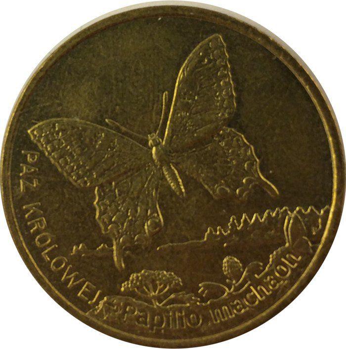 """Монета """"Бабочка Махаон"""""""