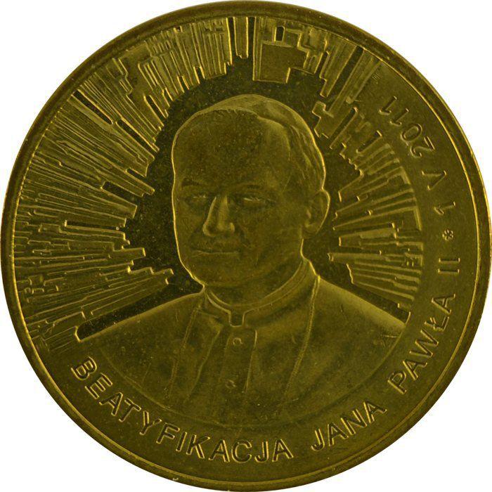 """Монета """"Беатификация Иоанна Павла II"""""""