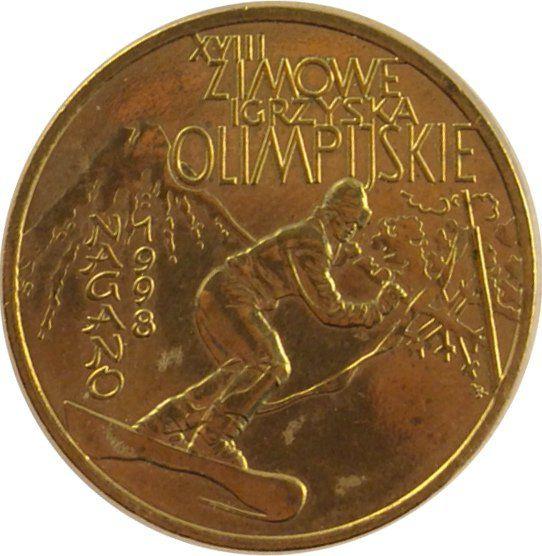 """Монета """"XVIII зимние Олимпийские игры в Нагано"""""""
