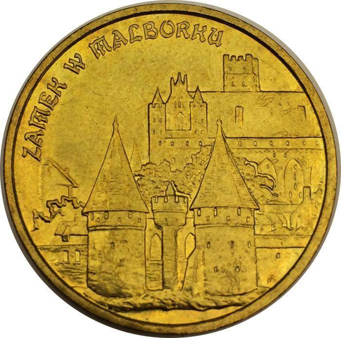 """Монета """"Замок в Мальборке"""""""