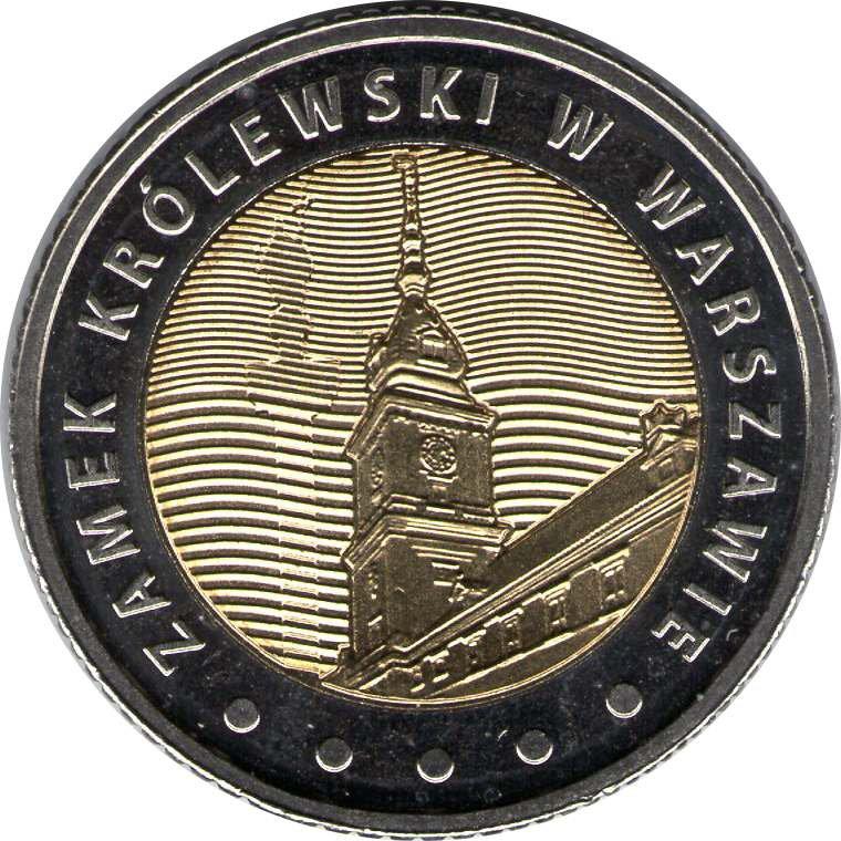 """Монета """"Королевский замок в Варшаве,"""