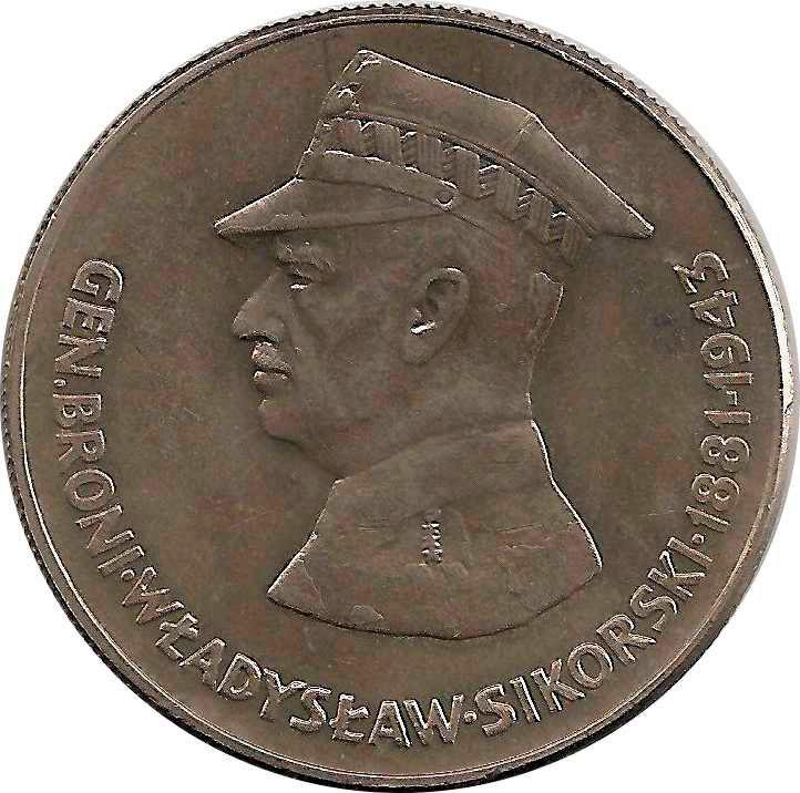 "Монета ""Генерал Владислав Сикорский"""
